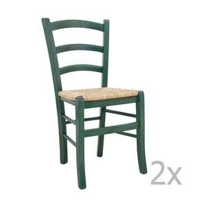 Zestaw 2 krzeseł Castagnetti Lavagna, zielone