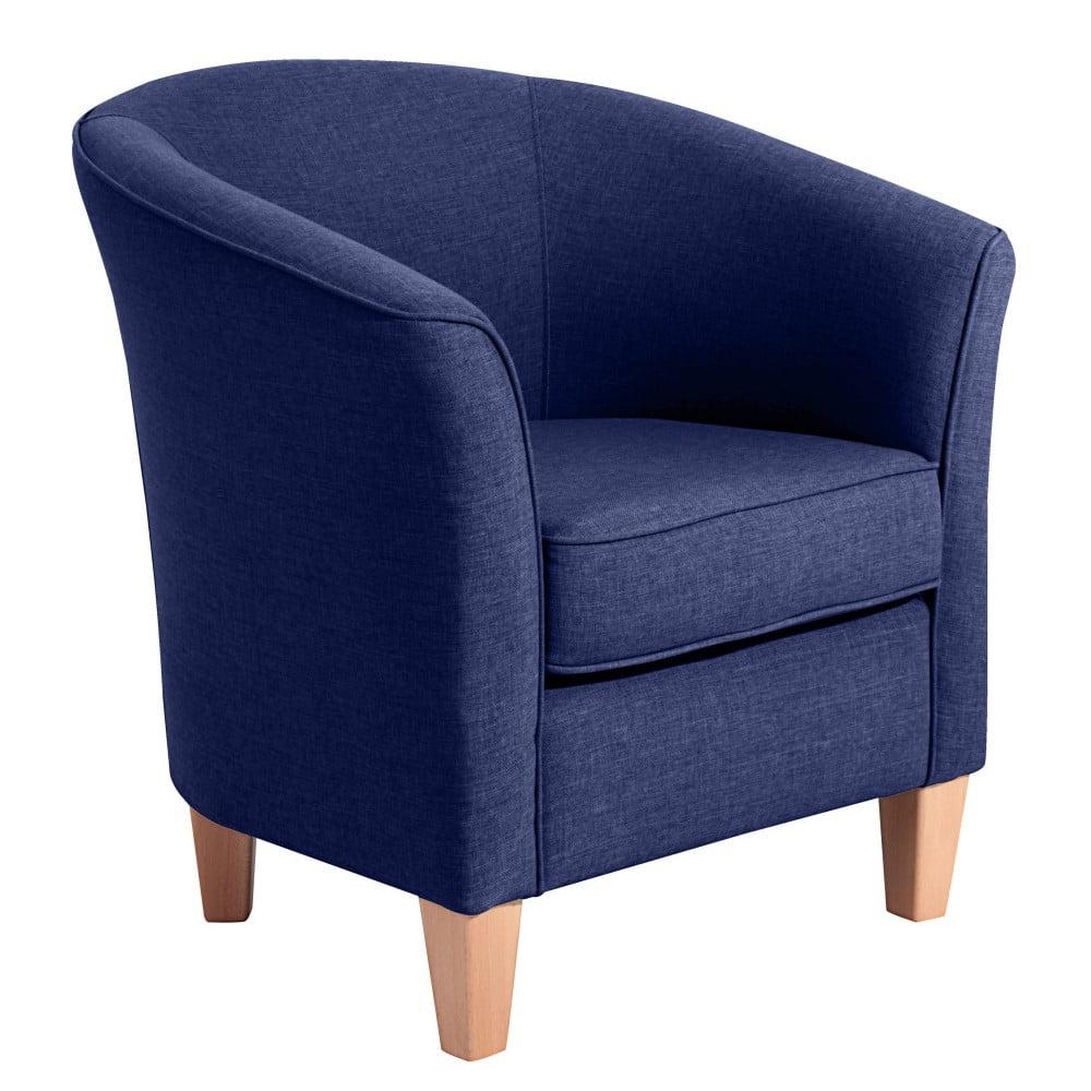 Granatowy fotel Max Winzer Livia Dark Blue