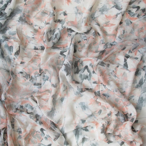 Wełniana chusta z dodatkiem kaszmiru Lotus Peach, 130 cm