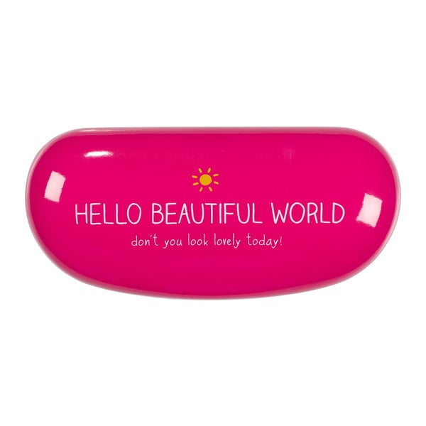 Pokrowiec na okulary Hello Beautiful World