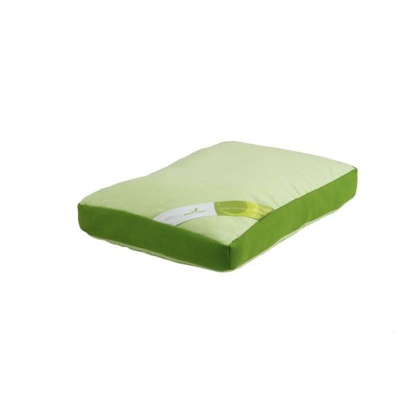 Zielona poduszka z pianką termoelastyczną Aero Green Future, 50x60cm