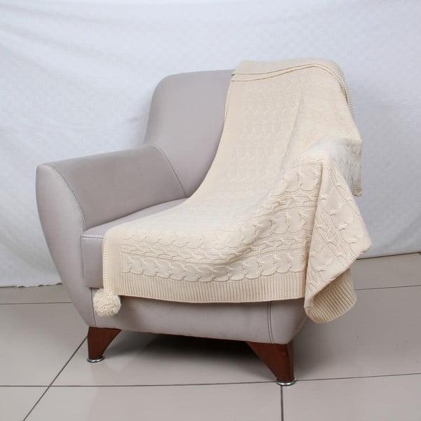 Kremowa narzuta Homemania Tata, 170x130 cm