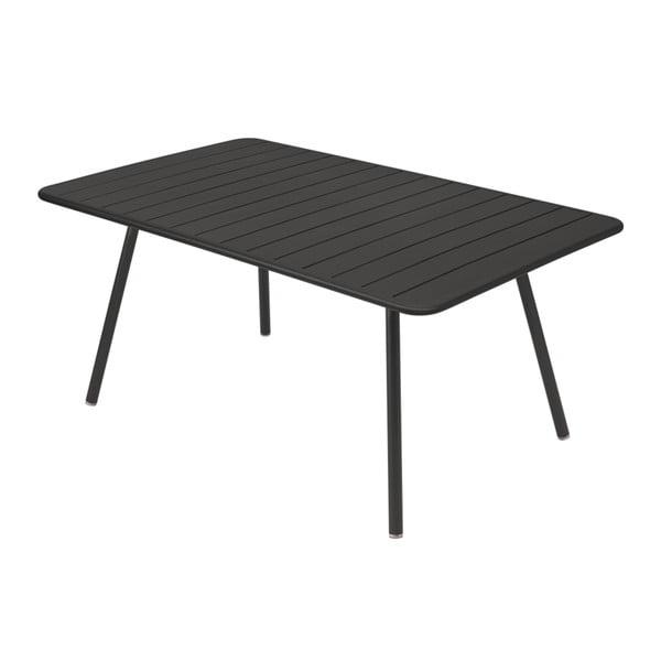 Czarny stół metalowy Fermob Luxembourg