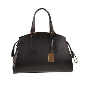 Skórzana torebka Emilio Masi Aston, czarna