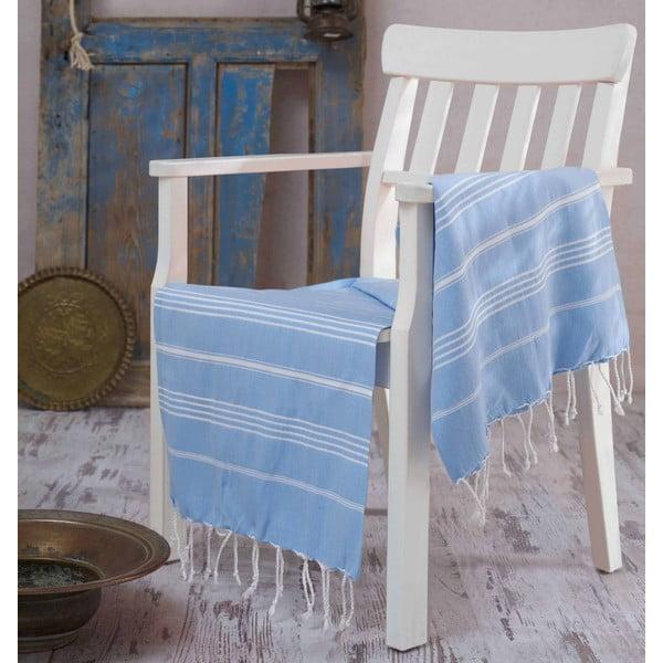 Ręcznik hammam Sultan Light Blue, 100x180 cm