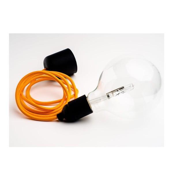 Kolorowy kabel Loft z żarówką, grapefruit
