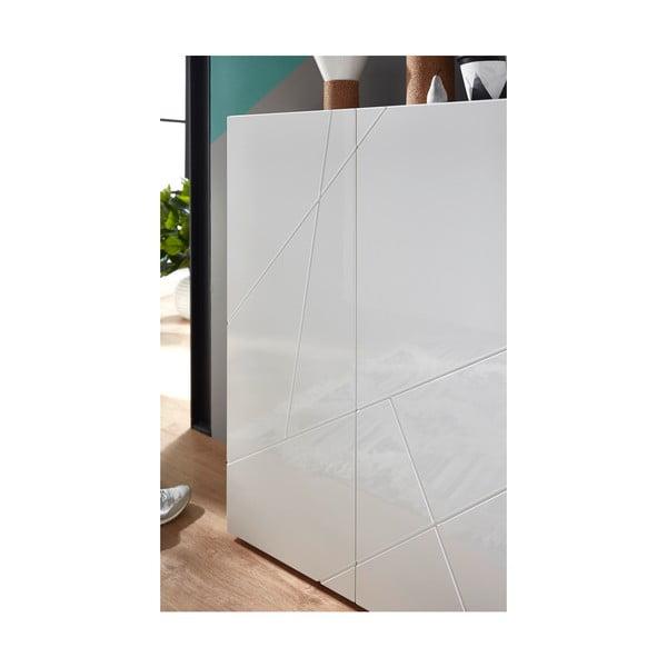 Biała szafka na buty Germania Geometrico