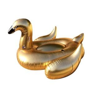 Fotel dmuchany w złotej barwie w kształcie łabędzia Sunvibes Dorée