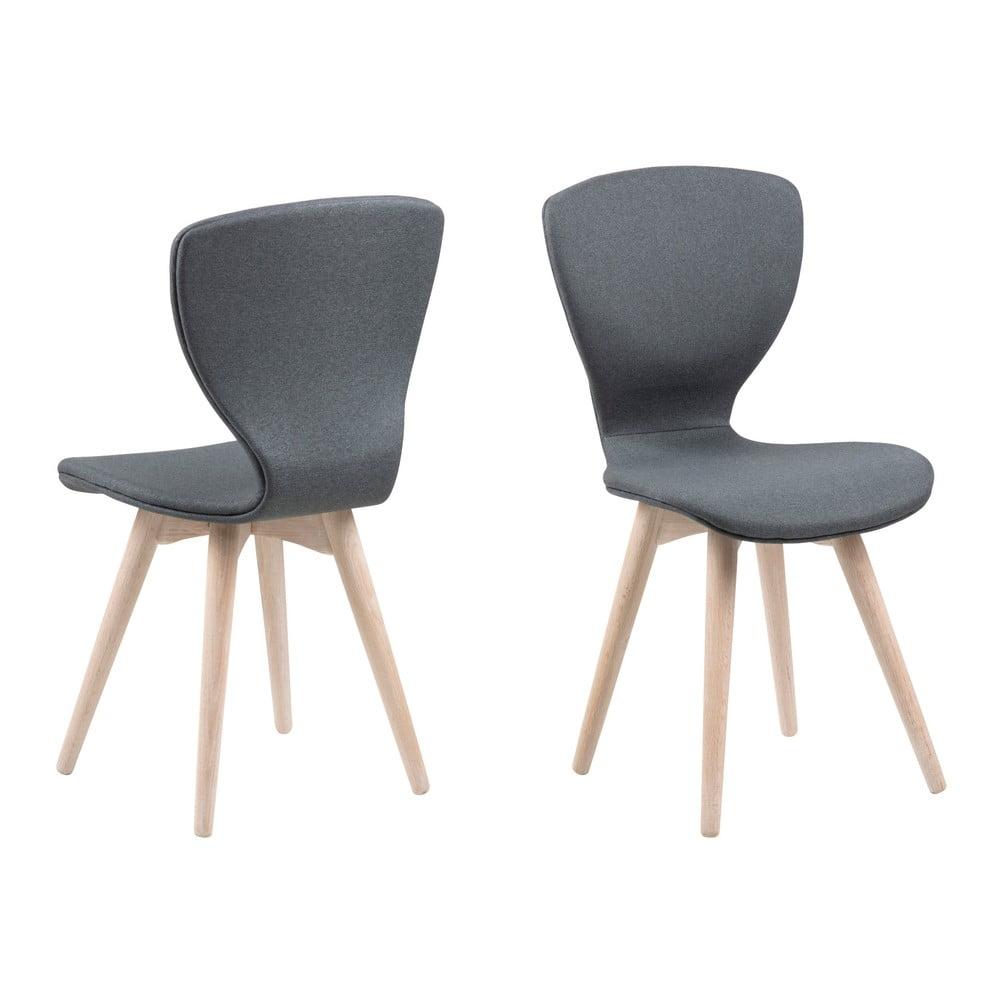 Ciemnoszare krzesło z konstrukcją z drewna dębowego Actona Gongli