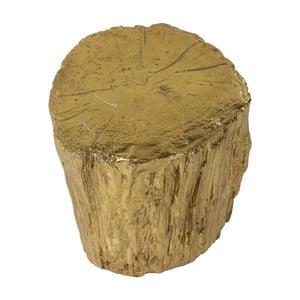Stołek w złotym kolorze Kare Design Tronco, ⌀ 40 cm