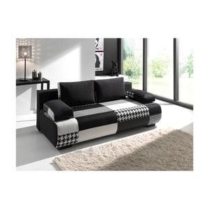 Czarno-szara sofa rozkładana Sinkro Joe