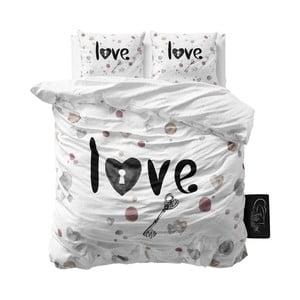 Pościel z mikroperkalu Sleeptime Key to Love, 200x220cm