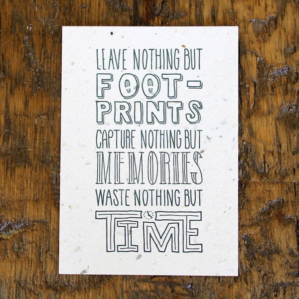 Plakat Leave nothing 41x30 cm