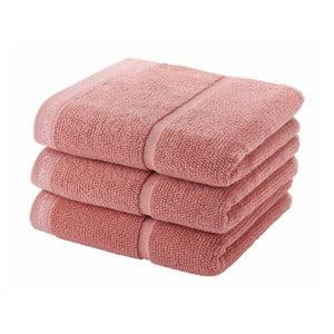 Pudrowo-różowy ręcznik Aquanova Adagio, 55x100 cm