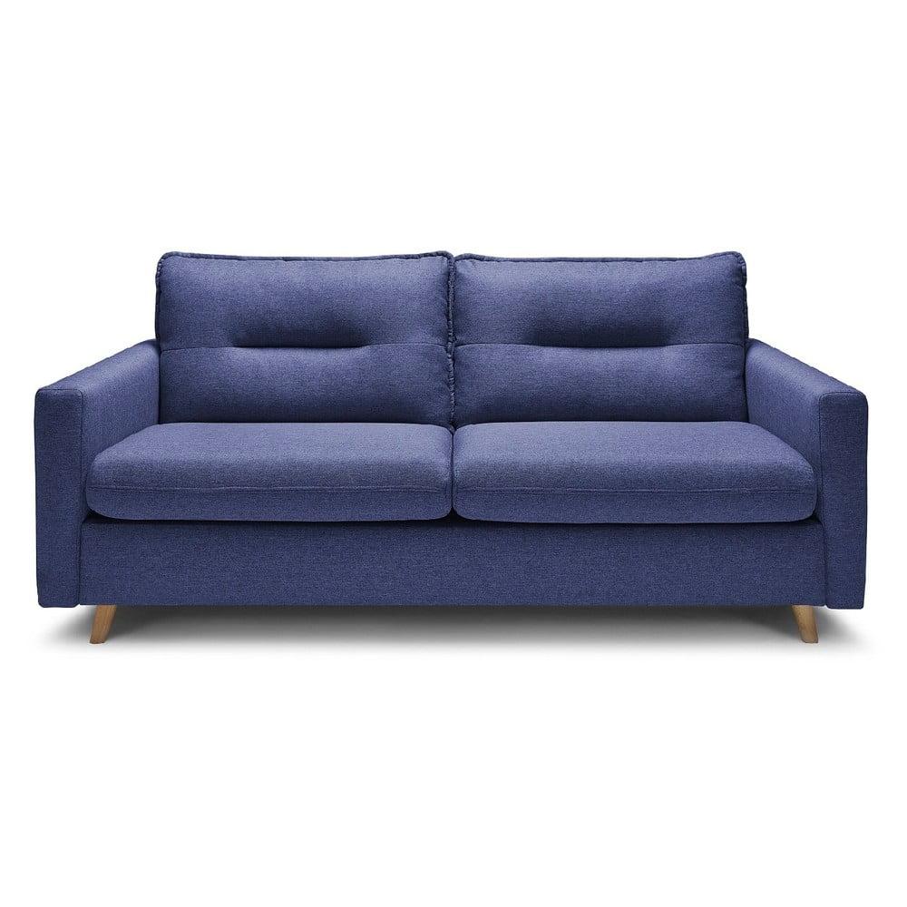 Niebieska sofa rozkładana Bobochic Paris Sinki