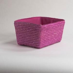 Różowy pleciony koszyk Compactor Hawai