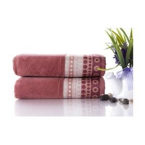 Zestaw 2 ręczników Golf Brick Color, 50x90 cm