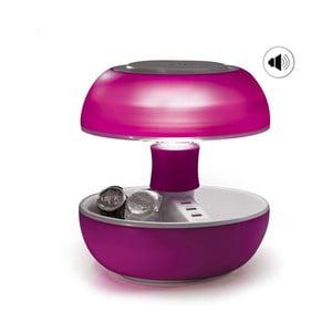 Lampa stołowa, ładowarka i głośnik w jednym Joyo Light, różowa