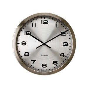 Srebrny zegar Present Time Maxie
