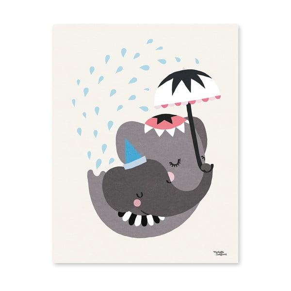 Plakat Michelle Carlslund Elephant Love, 30x40cm