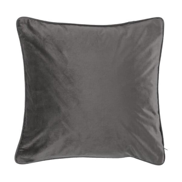 Ciemnoszara poduszka Tiseco Home Studio Velvety, 45x45 cm