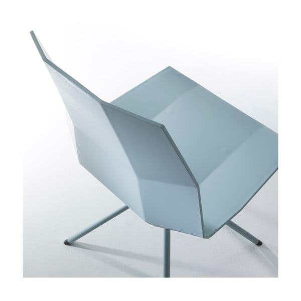 Zestaw 2 niebieskich krzeseł do jadalni La Forma Pixel