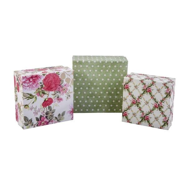 Zestaw 3 pudełeczek Roses