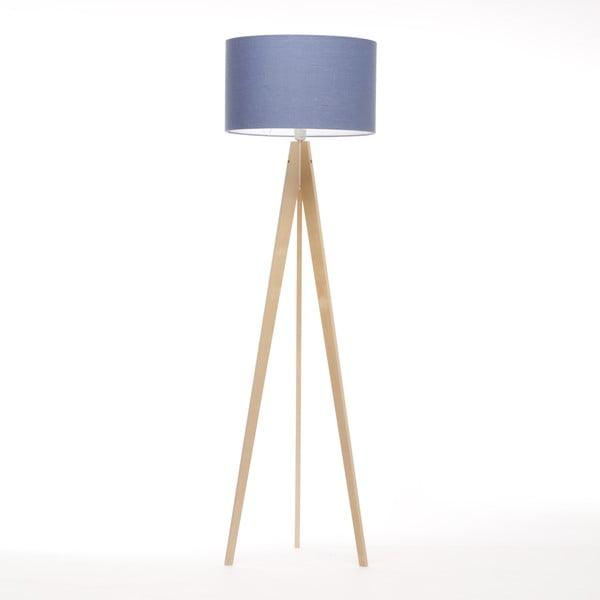 Lampa stojąca Artist Dark Blue Linnen/Birch Natural, 125x42 cm