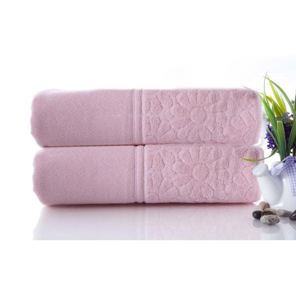 Zestaw 2 ręczników Samba Pink, 50x90 cm