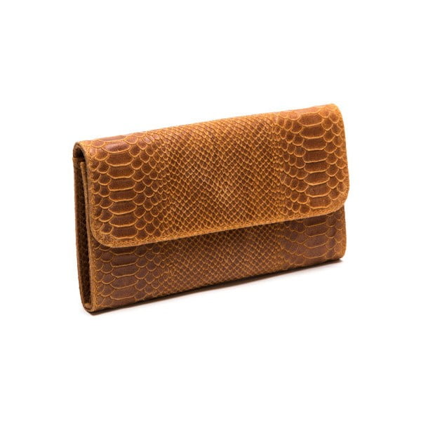 Skórzana torebka Isabella Rhea 8018 Cognac