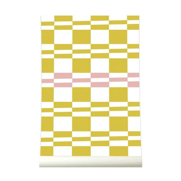 Tapeta Squarestripe Mustardpink
