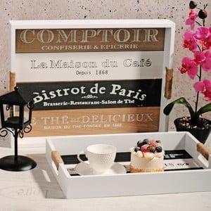 Zestaw 2 drewnianych tac Comptoir