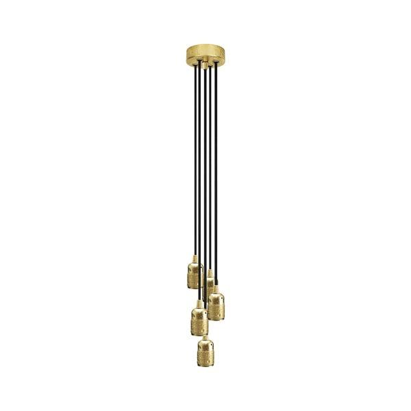 Pięć wiszących kabli Uno, złoty/brązowy