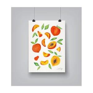 Plakat Americanflat Peaches, 30x42 cm