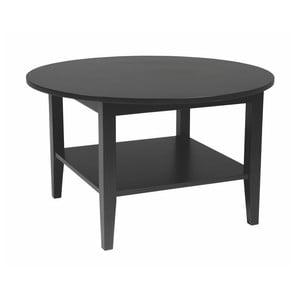 Czarny okrągły stolik dębowy Folke Baldr