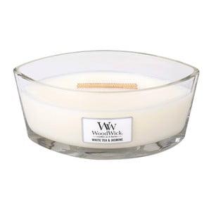 Świeczka zapachowa WoodWick Biała herbata i jaśmin, 453g