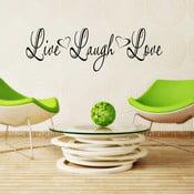Naklejka winylowa naścienna Live Laugh Love