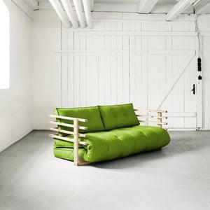 Sofa rozkładana Karup Funk Natural/Lime