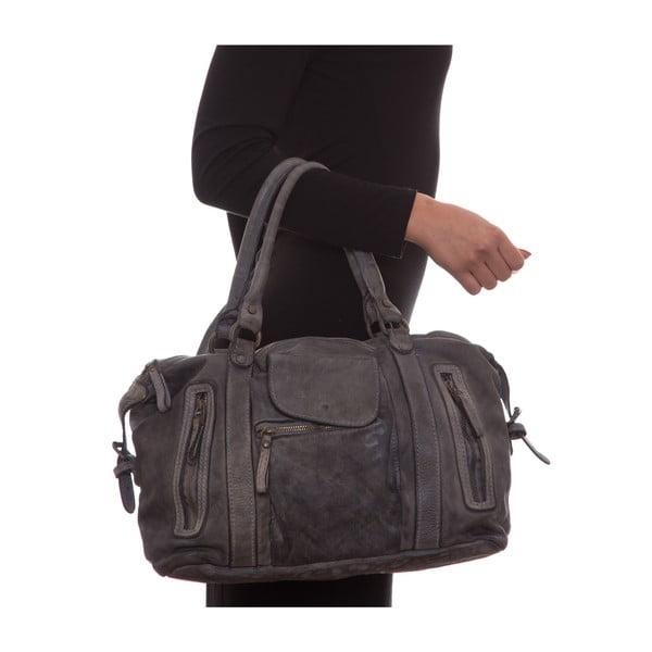 Skórzana torebka Mangotti 0001, szara