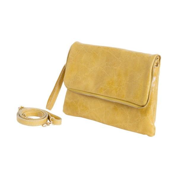Żółta torebka skórzana Andrea Cardone Cobalto