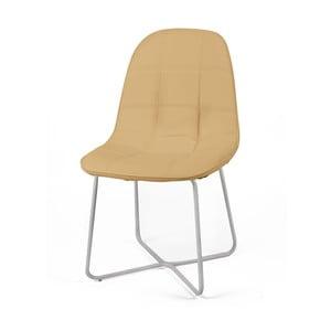 Jasnobrązowe krzesło Sveva