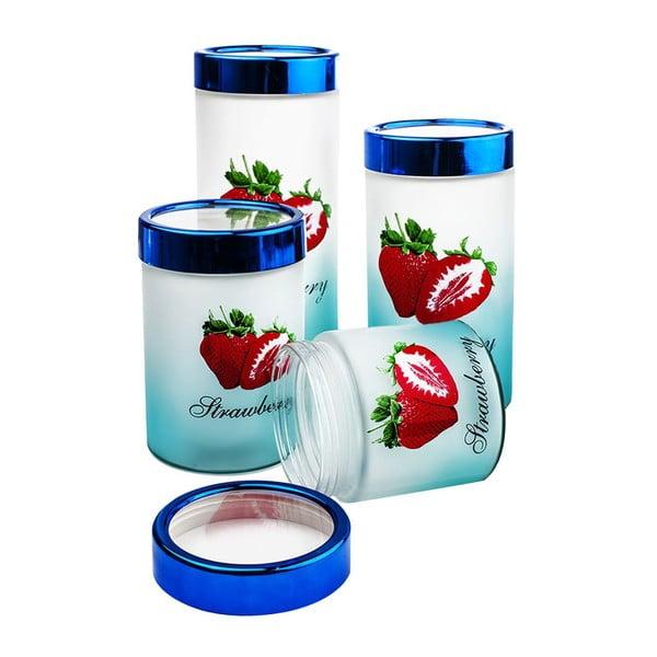 Zestaw 4 pojemników Strawberry