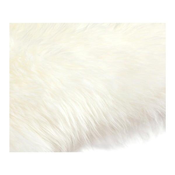 Biała   skóra dekoracyjna z owcy Pipsa Mouton, 110x80 cm