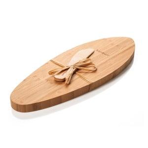 Bambusowa taca z nożem do serów Bambum Fiera
