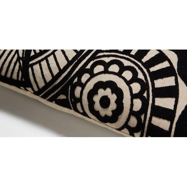 Czarna poduszka La Forma Minimal, 30x50 cm