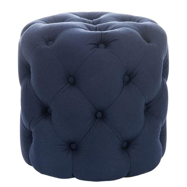Niebieski puf Hassock Button