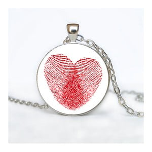 Damski łańcuszek z wisiorkiem Butoni de Camasa Heart Fingerprint