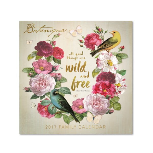 Kalendarz rodzinny Portico Designs Botanique SQ