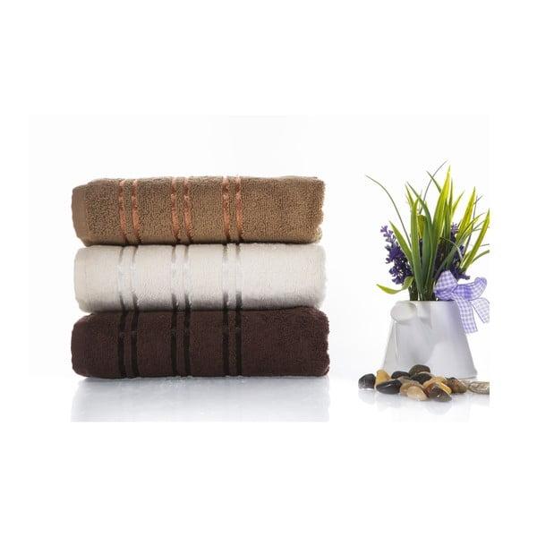 Zestaw 3 ręczników Becky V4, 50x90 cm