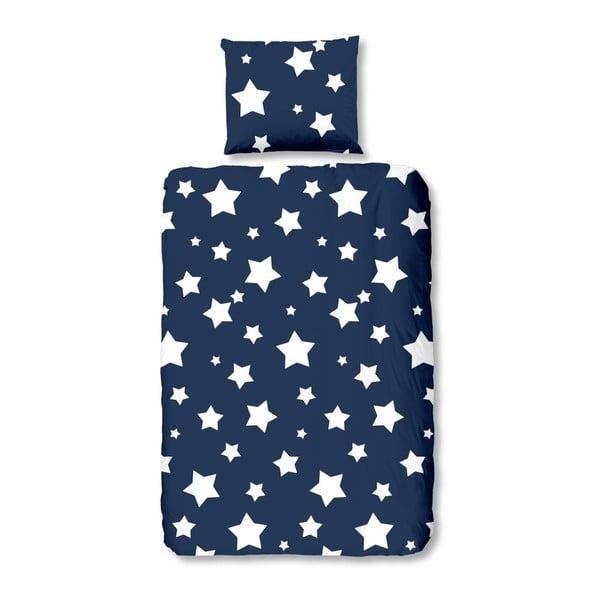 Niebieska pościel bawełniana dla dzieci Mundotextil Stars, 140x200 cm